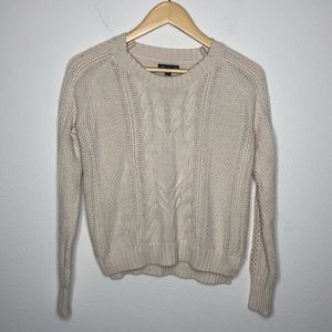 Gap Oatmeal Cable Knit Chunky Sweater